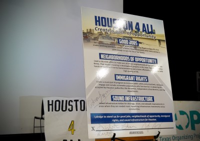 Houston 4 All Petition signed by Houston Mayoral Candidates